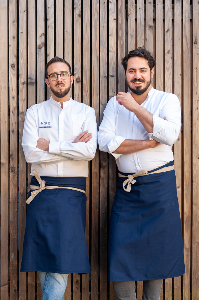 Chef and Somelier / Ugo Federico & Francesco Cury / Racines Restaurant / Belgium