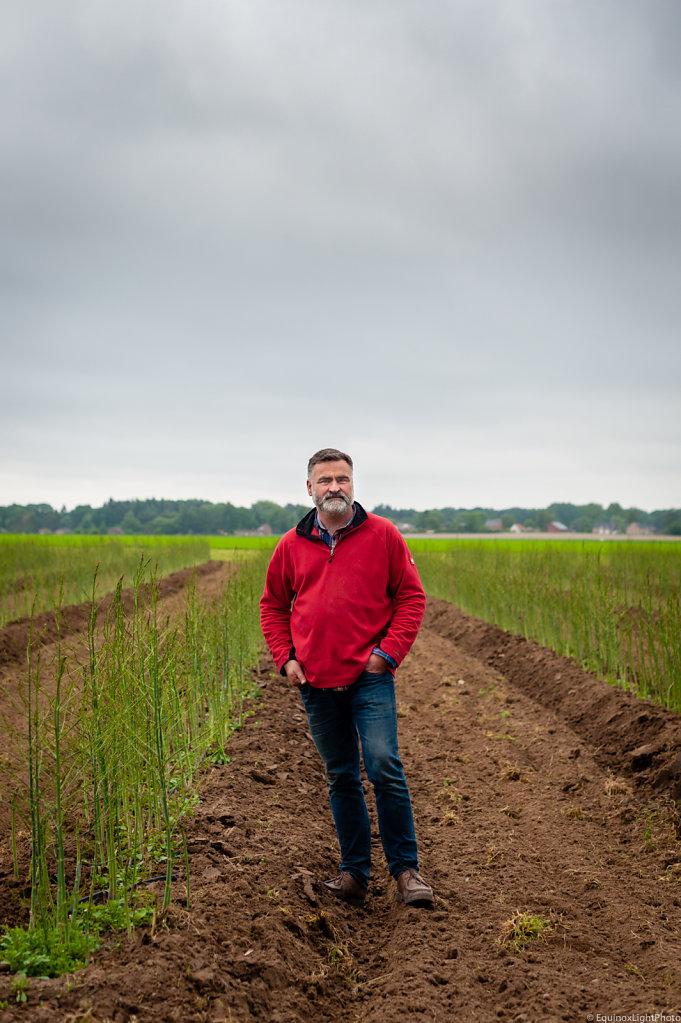 Market Gardener Stephane Longlune / Legumes à la Ferme Farm / Belgium